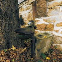 Old fountain by the barn. Photo by Jason Swartz